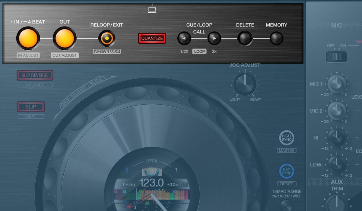 Pioneer DJ DDJ-800 looping section