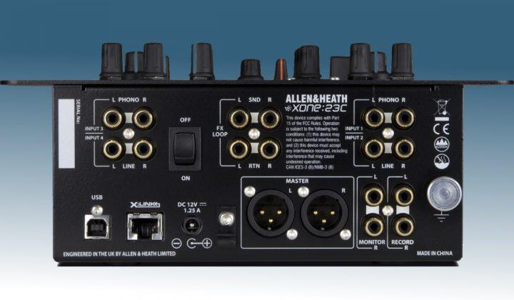 Allen & Heath Xone:23C inputs & outputs