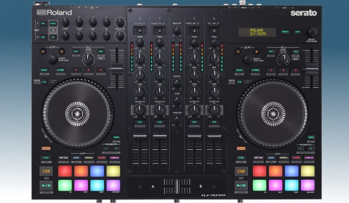 Roland DJ-707M top view