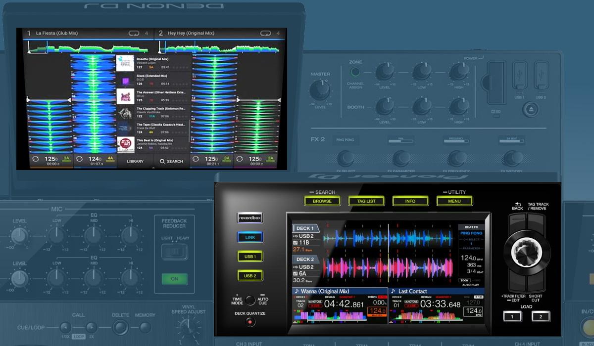Pioneer DJ XDJ-XZ versus the Denon DJ Prime 4: the screens