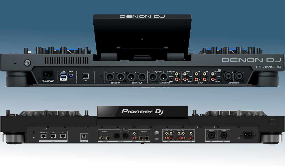 Pioneer DJ XDJ-XZ versus the Denon DJ Prime 4: inputs & outputs