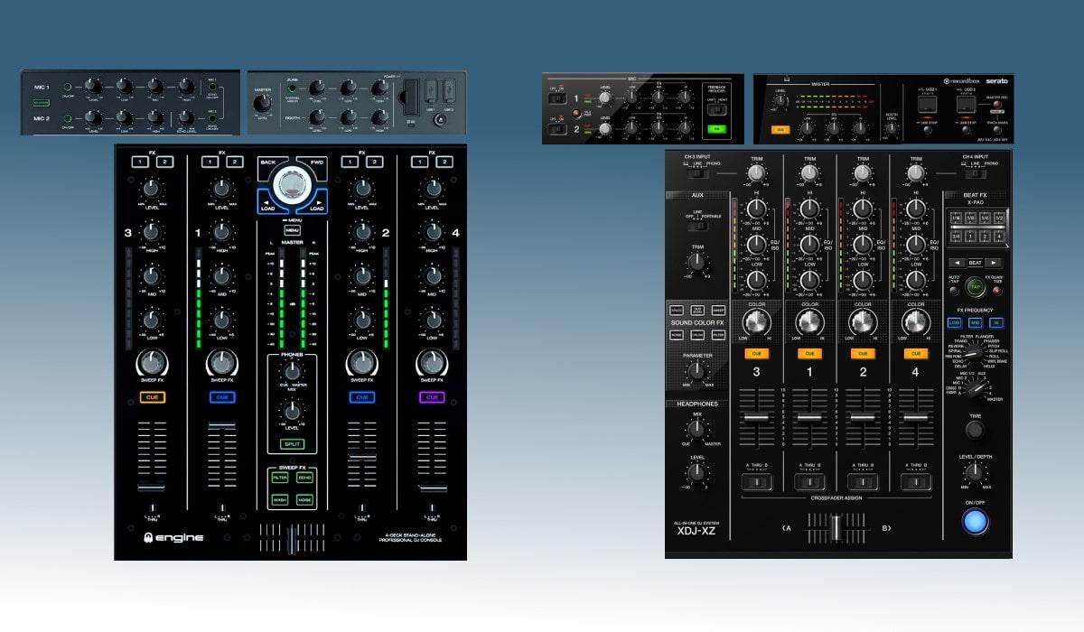 Pioneer DJ XDJ-XZ versus the Denon DJ Prime 4: the mixer