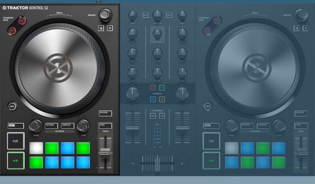 Native Instruments Traktor Kontrol S2 MK3: the decks