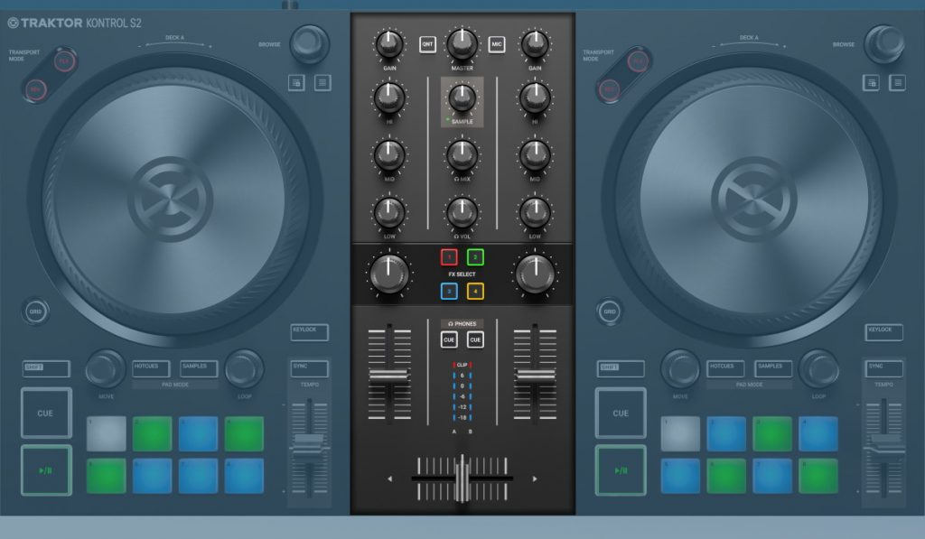 Native Instruments Traktor Kontrol S2 MK3: the mixer