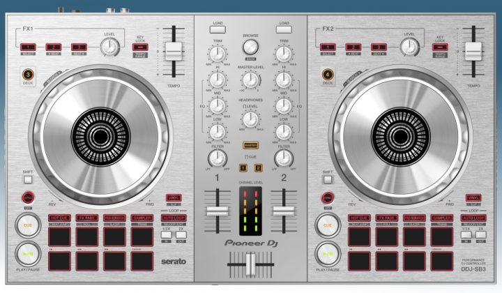 Pioneer DJ SB3-S top view
