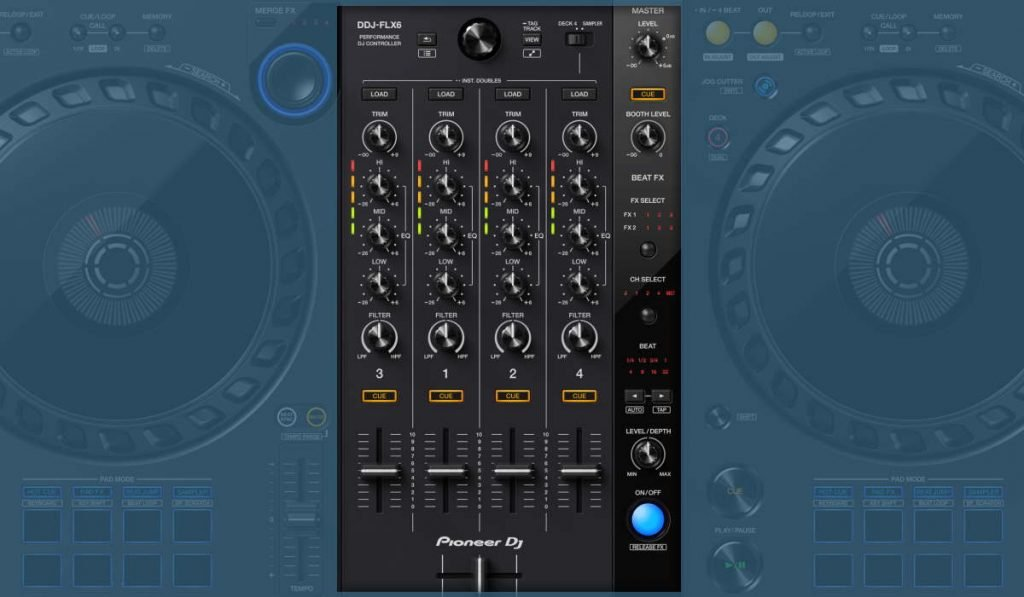 The Pioneer DJ DDJ-FLX6 mixer and effects