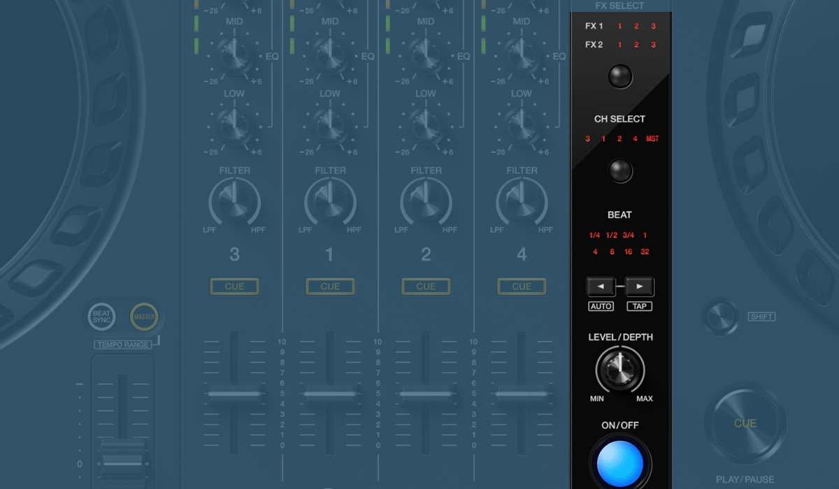 The Pioneer DJ DDJ-FLX6 mixer effects