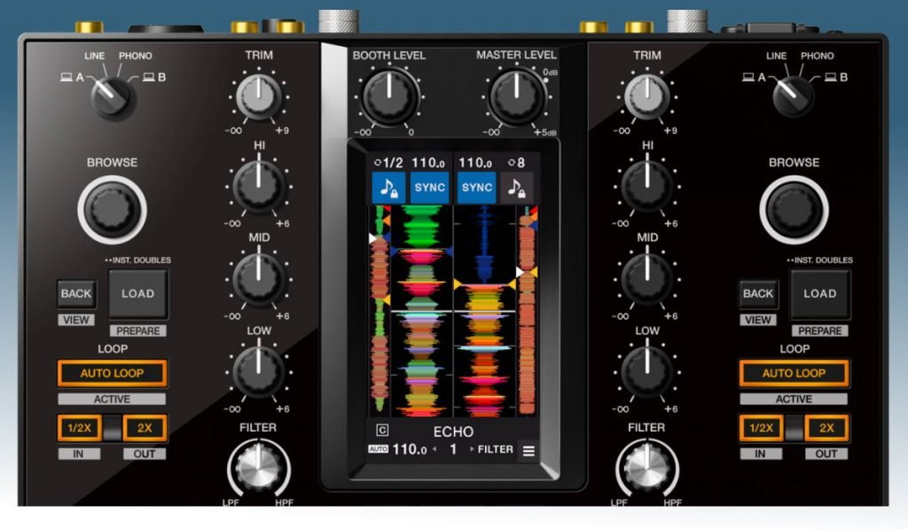 Pioneer DJ DJM-S11 channel controls