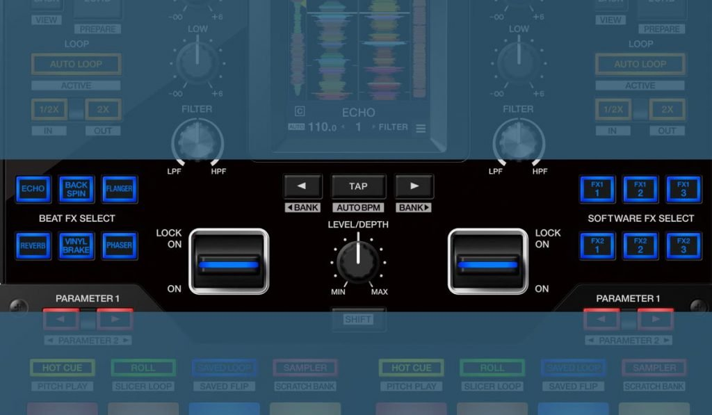 The DJM-S11 effect controls