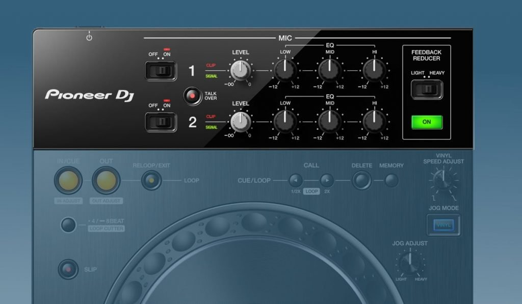 Pioneer DJ XDJ-XZ microphone options