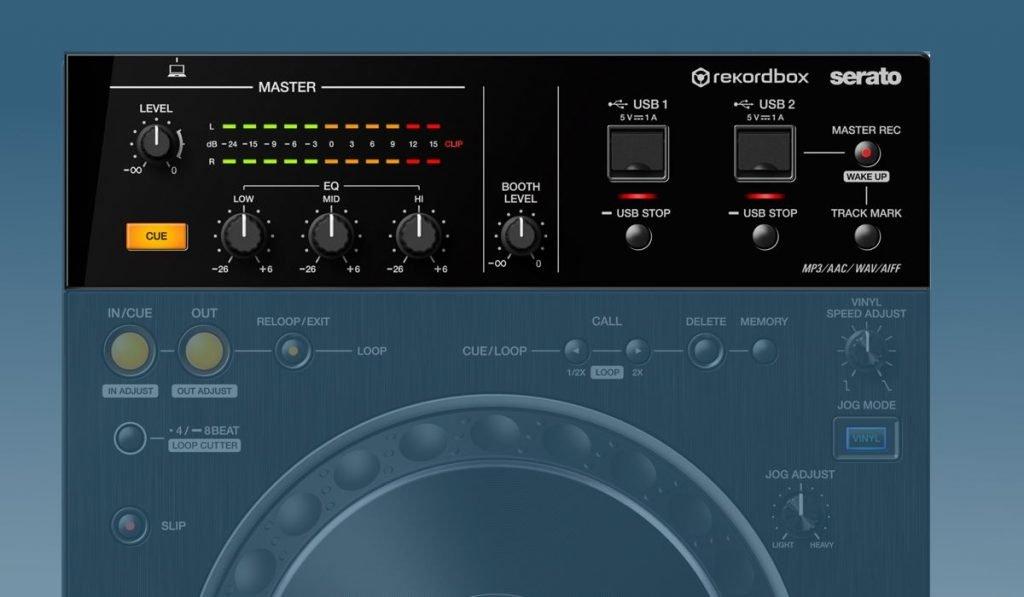 Pioneer DJ XDJ-XZ mixer and storage options