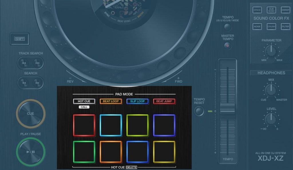 Pioneer DJ XDJ-XZ performance pads