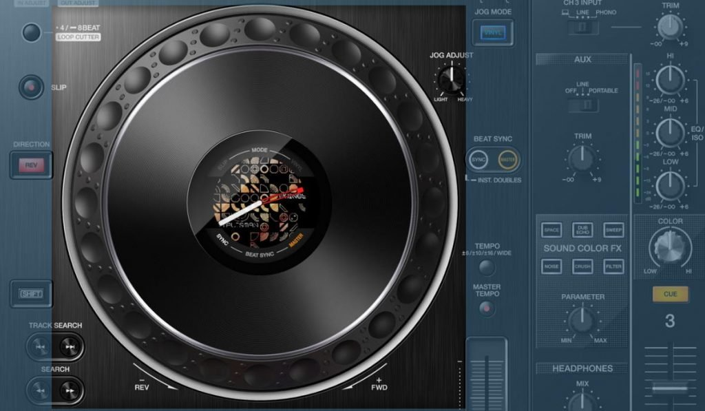 The Pioneer DJ XDJ-XZ jog wheels