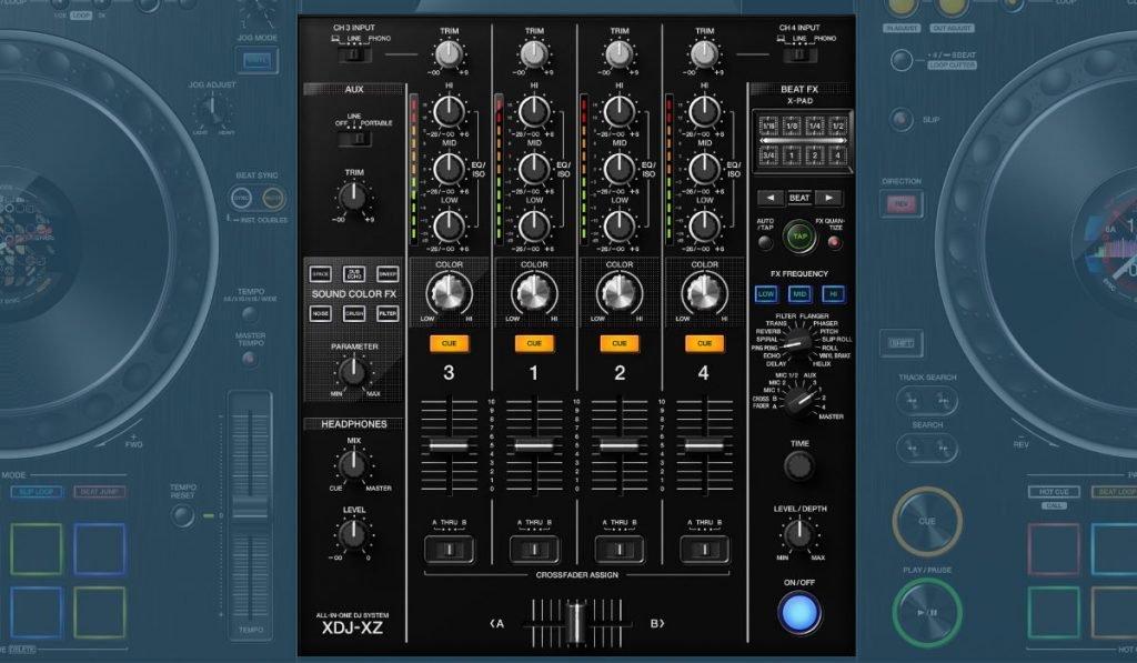 Pioneer DJ XDj XZ mixer section