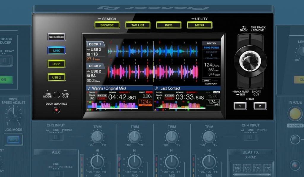 Pioneer DJ XDJ XZ touch screen